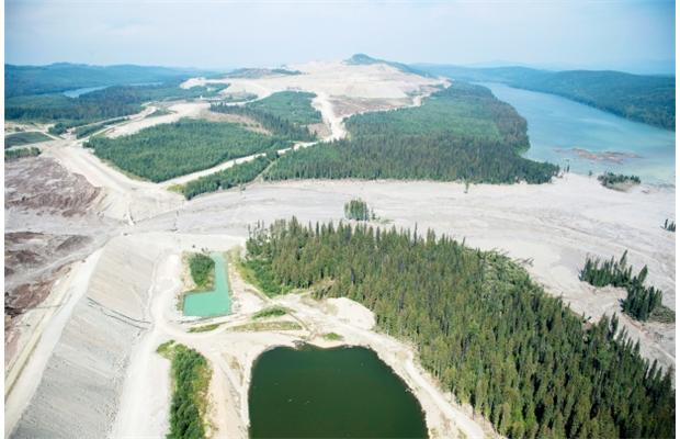 Aerial view shows the damage caused by the Mount Polley mine tailings pond breach near the town of Likely, B.C. on Aug., 5, 2014. An expert panel investigating the incident is due to release its findings Jan. 31. Photograph by: JONATHAN HAYWARD, THE CANADIAN PRESS